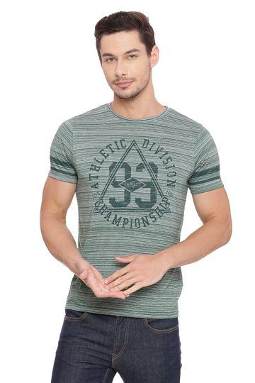 Basics | Basics Muscle Fit Myrtle Green Crew Neck T Shirt