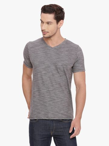 Basics   Basics Muscle Fit Sedona Sage V Neck T Shirt