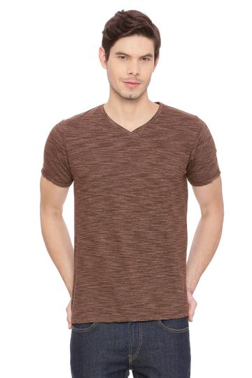 Basics | Basics Muscle Fit Dark earth V Neck T Shirt