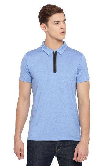 Basics | Basics Muscle Fit Marina Blue Polo T Shirt