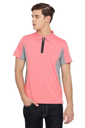 Basics | Basics Muscle Fit Fusion Coral Polo T Shirt