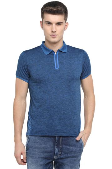 Basics | Basics Muscle Fit Twilight Blue Polo T Shirt