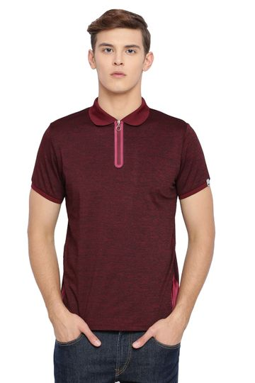 Basics | Basics Muscle Fit Burgundy Polo T Shirt