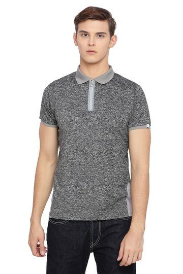 Basics | Basics Muscle Fit Gargoyle Grey Polo T Shirt