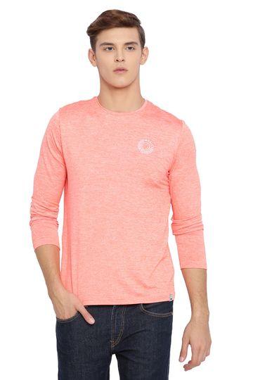 Basics | Basics Muscle Fit Fusion Coral Crew Neck T Shirt