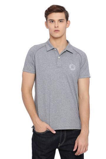 Basics | Basics Muscle Fit Neutral Grey Raglan Half Sleeve Polo T Shirt