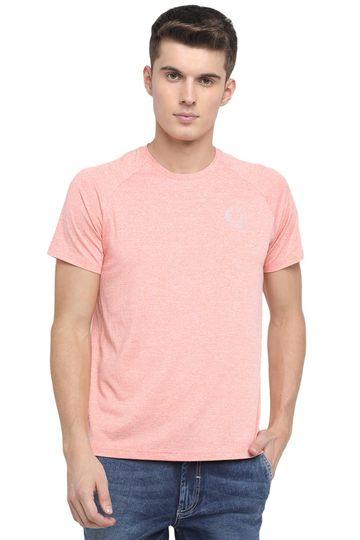 Basics | Basics Muscle Fit Peach Pamper Crew Neck T Shirt