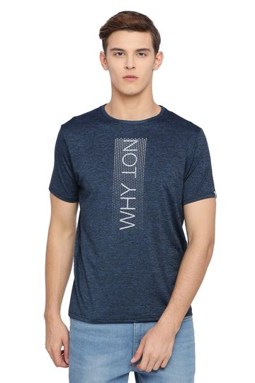 Basics | Basics Muscle Fit Blue Ashes Crew Neck T Shirt