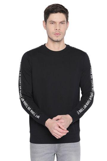 Basics | Basics Muscle Fit Black Beauty Crew Neck Pullover Knit Jacket