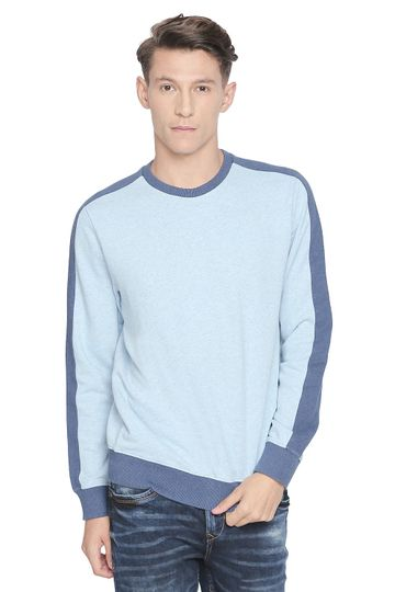 Basics | Basics Muscle Fit Moonlight Melange Crew Neck Pullover Knit Jacket