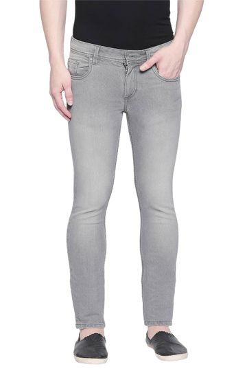 Basics | Basics Torque Fit Neutral Grey Stretch Jean
