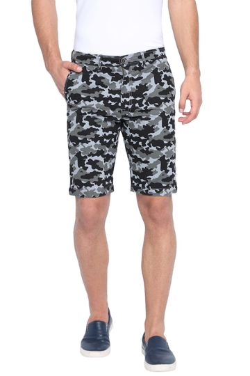 Basics | Basics Comfort Fit Quarry Camo Printed Cotton Shorts