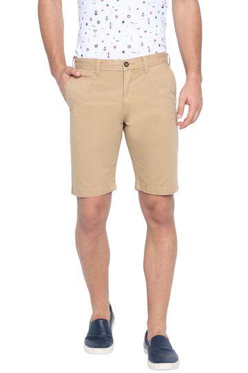 Basics | Basics Comfort Fit Lark Khaki Over Dyed Cotton Shorts