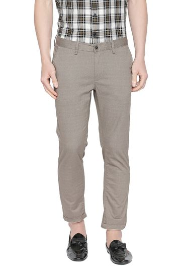Basics   Basics Tapered Fit Kelp Brown Stretch Trouser