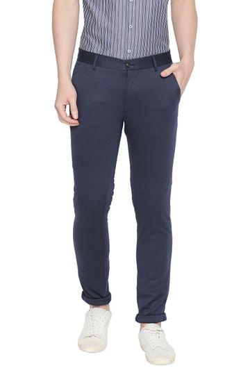 Basics | Basics Tapered Fit Mood Indigo Knit Trouser