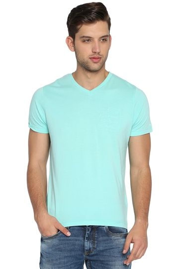 Basics | Basics Muscle Fit Aqua Aruba V Neck T Shirt