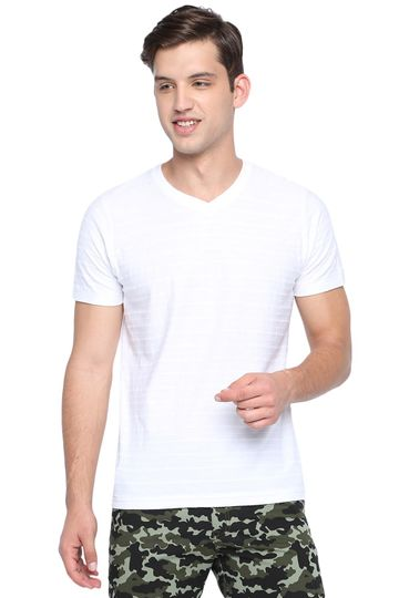 Basics | Basics Muscle Fit Snow White V Neck T Shirt