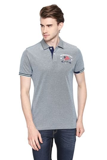 Basics   Basics Muscle Fit Shaded Spruce Polo T Shirt