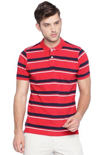 Basics | Basics Muscle Fit Salsa Red Polo T Shirt