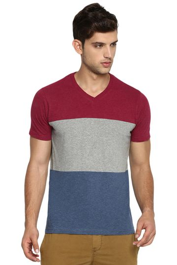 Basics | Basics Muscle Fit Port Heather V Neck T Shirt