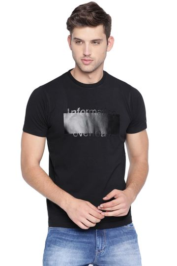 Basics | Basics Muscle Fit Jet Black Crew Neck T Shirt
