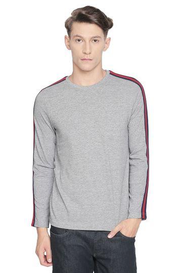 Basics | Basics Muscle Fit Heather Grey Long Sleeve T Shirt