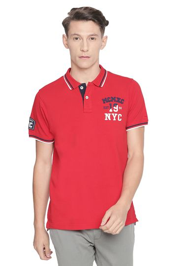 Basics | Basics Muscle Fit Racing Red Polo T Shirt