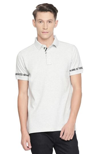 Basics | Basics Muscle Fit Highrise Heather Polo T Shirt