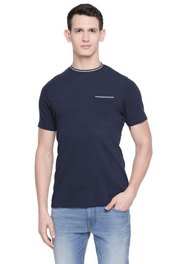 Basics | Basics Muscle Fit Dress Blues Crew Neck T Shirt