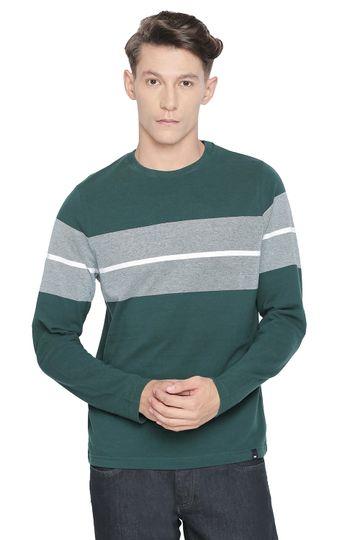 Basics   Basics Muscle Fit Ponderosa Pine Crew Neck T Shirt