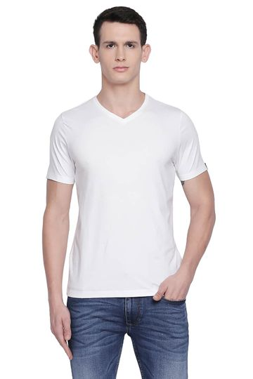 Basics | Basics Muscle Fit Bright White V Neck T Shirt