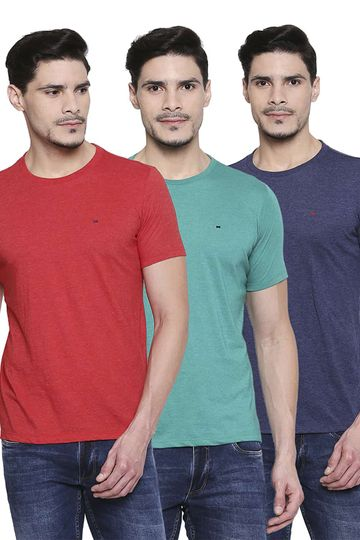 Basics | Basics Crew Neck Muscle Fit Half Sleeves Tees