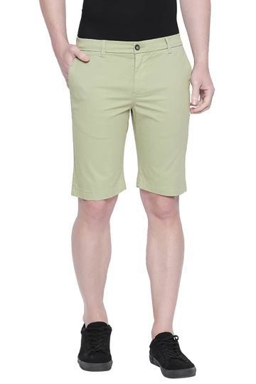 Basics | Basics Comfort Fit Green Eyes Twill Stretch Shorts