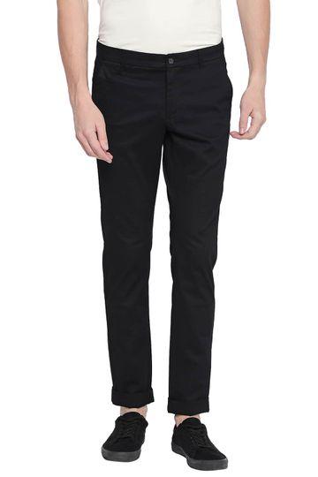 Basics | Basics Tapered Fit Pirate Black Stretch Trouser