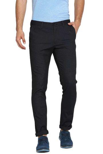 Basics   Basics Tapered Fit Blue Graphite Stretch Trouser