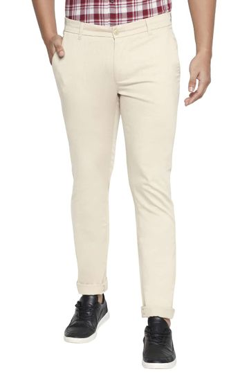 Basics   Basics Tapered Fit Pebble Stone Stretch Trouser