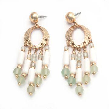 BELLEZIYA | Belleziya Gold finish tasseled Dangling Earrings for Casual /Evening wear