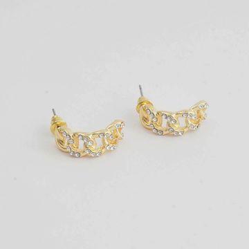 BELLEZIYA | Belleziya Gold Finish Stone Studded Drop Earring for Women & Girls For Casual & Formal wear