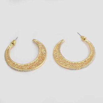 BELLEZIYA | Belleziya Half Hoop Earrings for Women & Girls For Casual & Festive Wear