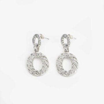 BELLEZIYA | Belleziya Silver Finish Drop Earring For Women & Girls For Casual & Formal Wear
