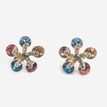 BELLEZIYA | Belleziya Multicolored Floral Pattrened Stud for Women & Girls For Casual And Festive Wear