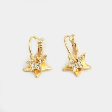 BELLEZIYA | Belleziya Gold Finish Stone Studded Drop Earring for Women & Girls For Casual & Formal wear