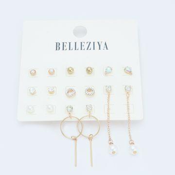BELLEZIYA | Belleziya Earrings Pack of 8 Studs and Danglers for women and Girls