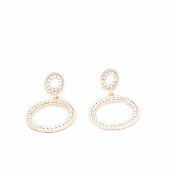 BELLEZIYA   Belleziya Gold Finish stone studded drop earrings for women/Girls