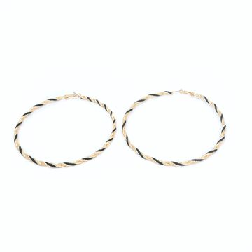 BELLEZIYA | Belleziya Gold Finish Big Hoop earrings for casual and formal wear