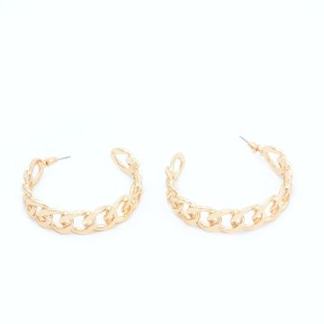 BELLEZIYA | Belleziya Gold Finish  Hoop Earrings for Girls & Women