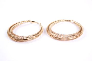BELLEZIYA | Belleziya Gold Finish Stylish Hoop Earrings For Casual And Formal Wear  For Women/Girls