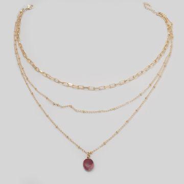 BELLEZIYA | Belleziya Gold Finish Layered Necklace For Women & girls