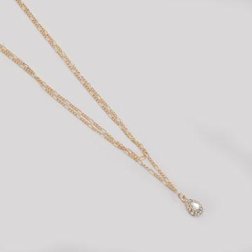 BELLEZIYA | Belleziya Gold Finish Layered necklace with dangling stone Pendants for Women & Girls