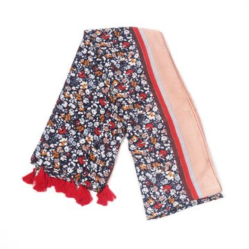 BELLEZIYA | Belleziya black multi colored floral print scarf for women & girls